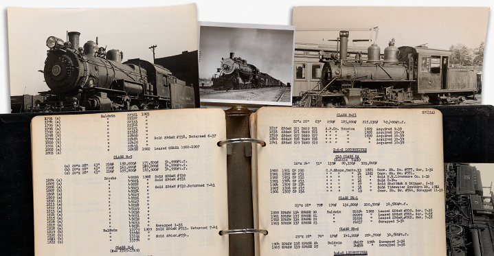 Among the top lots in Thursday's auction of Maps & Atlases, Natural History & HIstorical Prints, Ephemera was a huge archive of material related to American locomotives, which included several thousand photographs. The archive dramatically exceeded its presale estimate when it sold for $40,000.