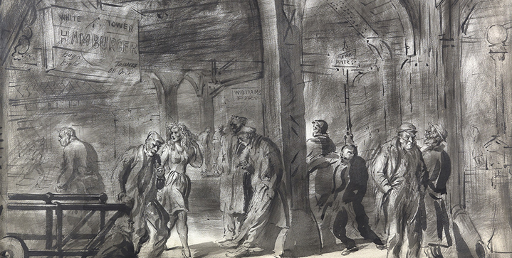 So much great material it became a three-day sale! Our September Prints & Drawings auction featured Reginald Marsh's drawing White Tower Hamburger,Doyers Street, New York City, brush and ink and wash on paper, which sold for $42,500.