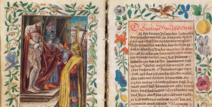 A 16th century manuscript prayer book with hand-colored engravings by Albrecht Dürer and other artists sold for $100,000 in the October 29 auction of Old Master Through Modern Prints.