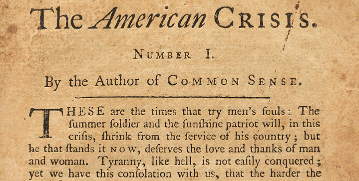 An extremely rare first edition of Tomas Paine's The American Crisis, found in an attic in Albany, New York and almost thrown away, sold on November 25 for $125,000.