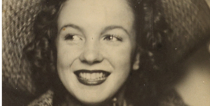 Our second sale devoted to Vernacular Imagery features a photo booth self-portrait of Norma Jeane Baker, soon-to-be Hollywood icon Marilyn Monroe, circa 1940.