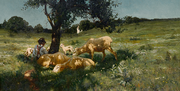 Highlights from Swann's upcoming April 2, 2015 auction Ascension: A Century of African-American Art include Henry Ossawa Tanner's 1881 painting Boy and Sheep Under a Tree, pictured, and exceptional paintings by Norman Lewis, Sam Gilliam and Barkley L. Hendricks.