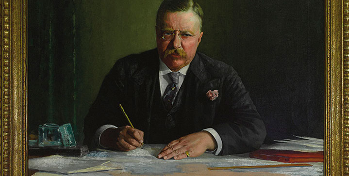 Swann's April 2015 sale saw lots that soared above their pre-sale estimates, includingthe cover lot–an attractive oil painting of Theodore Roosevelt seated at his desk, by Adriaan M. de Groot, 1925, for $15,000.