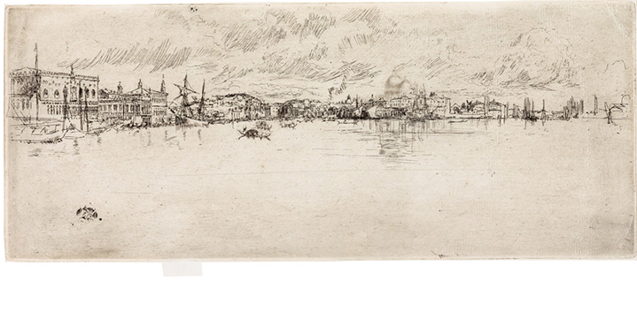 A section of Swann's April 29 auction is devoted to more than 90 exceptional prints by James A.M. Whistler. It is the finest group of Whistler prints Swann has seen at auction, and includes Long Venice, 1879-80, pictured here. Click the image for more highlights from this remarkable collection.