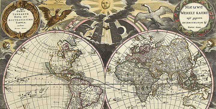 Maps & Atlases, Natural History & Color Plate Books | May 19: Top lots include Pieter Goos' De Zee-Atlas, with 41 hand-colored maps, 1672, pictured, and a run of original watercolors by Pierre-Joseph Redouté.