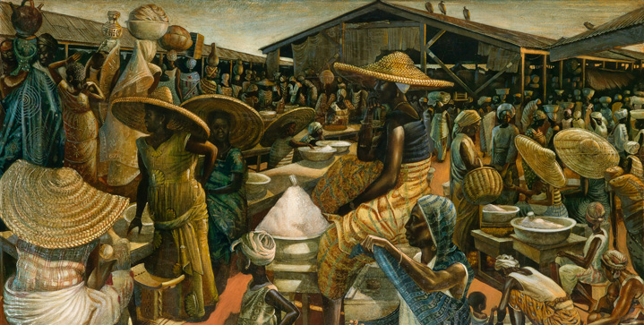 The Art Collection of Maya Angelou | Records & ResultsThe sale of Dr. Angelou's private collection was a massive success with numerous artist records , including John Biggers' Kumasi Market with $389,000, and Maya's Quilt of Life by Faith Ringgold which sold for $461,000.