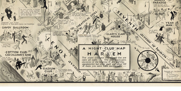 E. Simms Campbell's original artwork for the well known print A Night-Club Map of Harlem, depicting speakeasies throughout the borough, realized $100,000 in our 2016 annual spring sale.