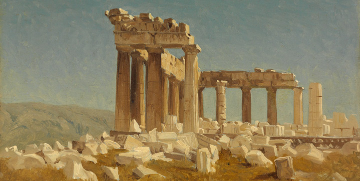 Headlining our American Art auction on June 9 was Sanford Robinson Gifford's recently discovered 1869 canvas Study of the Parthenon, which realized $269,000 at auction.