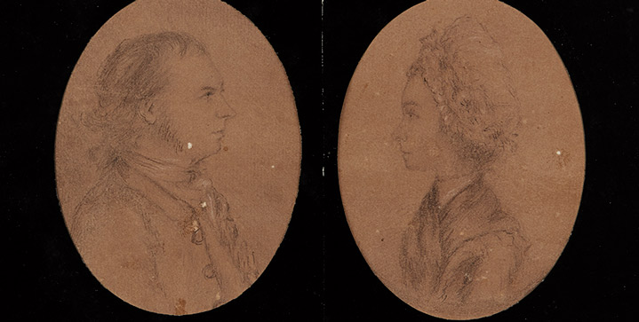 Printed & Manuscript Americana | June 21A pencil portrait of Abraham and Jannetje Cuyler by John André sold for $47,500, a record price for any manuscript item by André to come to auction.