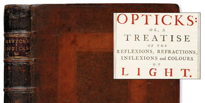 A bidding frenzy for Sir Isaac Newton's 1704 Opticks, his seminal treatise, set the price realized well over the high estimate. The first edition realized $87,500, making it the top lot in our October 18 sale of Early Printed, Medical, Scientific & Travel Books.