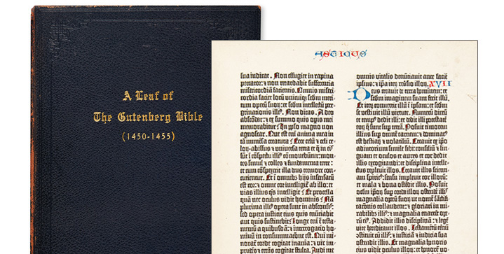 Our March 9 sale of Early Printed, Medical, Scientific & Travel Books was headlined by a 1455 leaf from the Gutenberg Bible in a copy of Newton's A Noble Fragment. It brought $52,500.