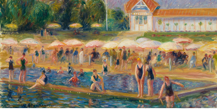 A canvas by William Glackens titled The Beach, Isle Adam topped our Spring 2017 finale, bringing $581,000. Milton Avery and John Marin followed with bright watercolors that sold for $65,000 and $50,000, respectively.