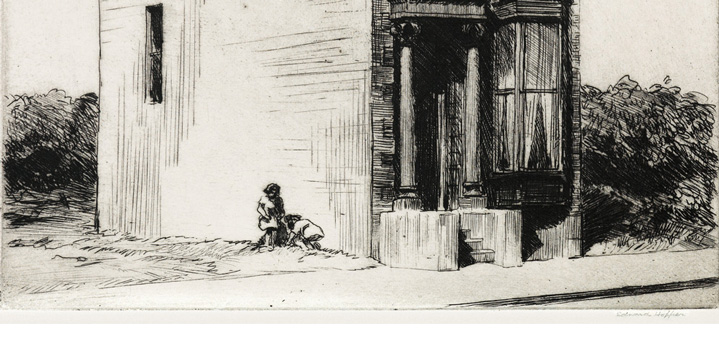 Our November 2 auction of Old Master Through Modern Prints offered Edward Hopper's 1923 etching, The Lonely House. It sold for $317,000, a record price for any print by the artist.