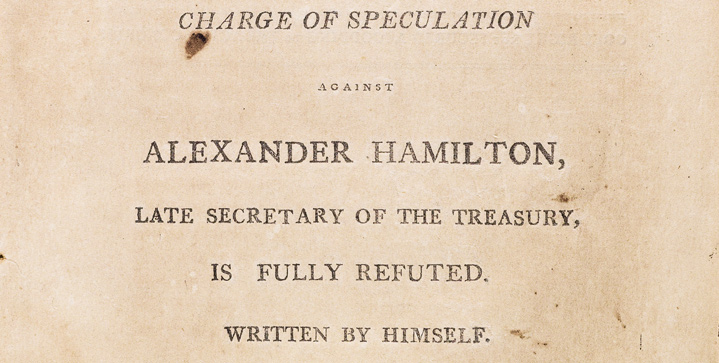 On April 12, this popular auction includes an unauthorized second edition of Alexander Hamilton's pamphlet Observations of Certain Documents, as well as a rare Pony Express Bible and significant early Latin Americana.