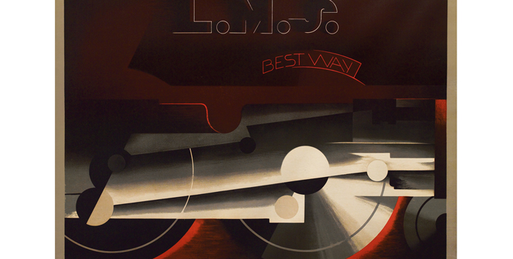 Swann set an artist record for A.M. Cassandre, when his <I>L.M.S. / Best Way</I> brought $156,000 in our November 8, 2012 Travel Posters auction.