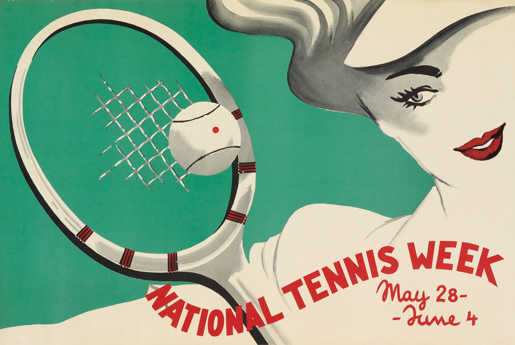National Tennis Week Poster