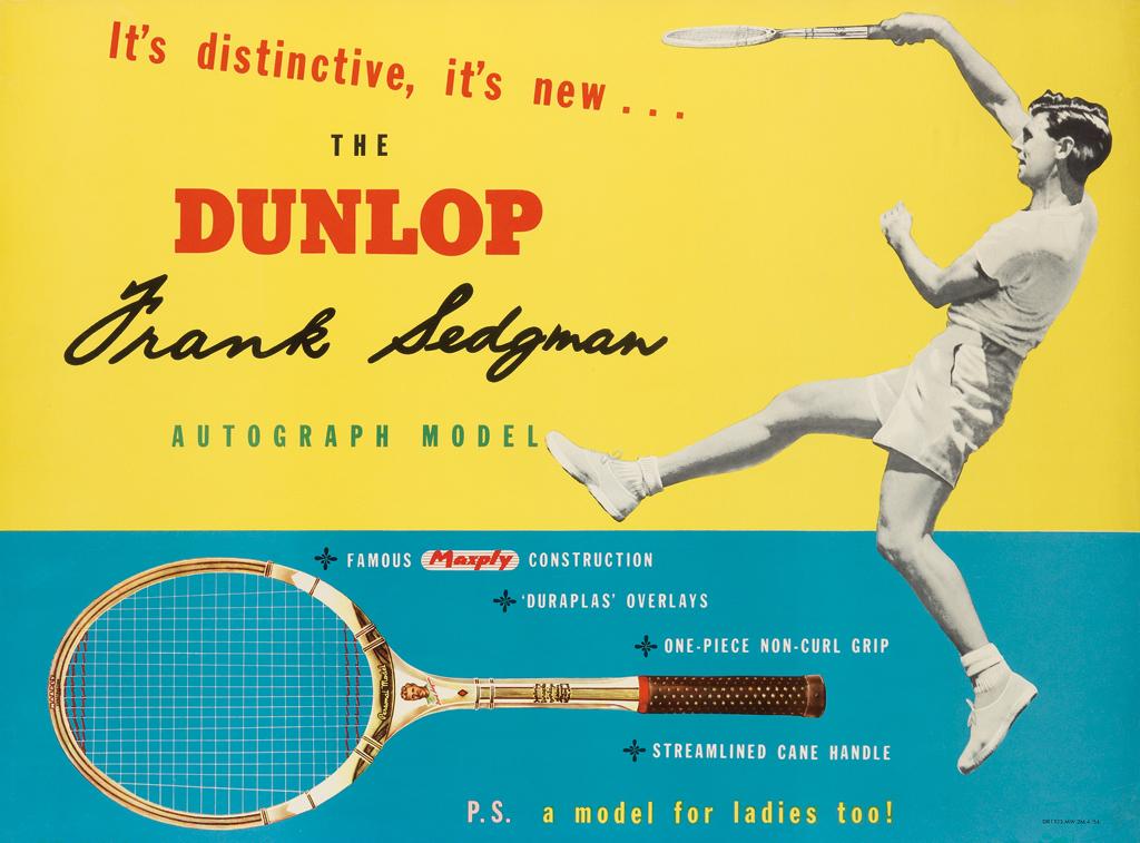 The Dunlop - Frank Sedgman Poster
