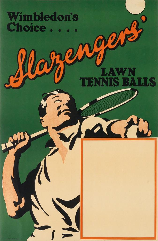 Wimbledon's Choice - Slazengers' Poster