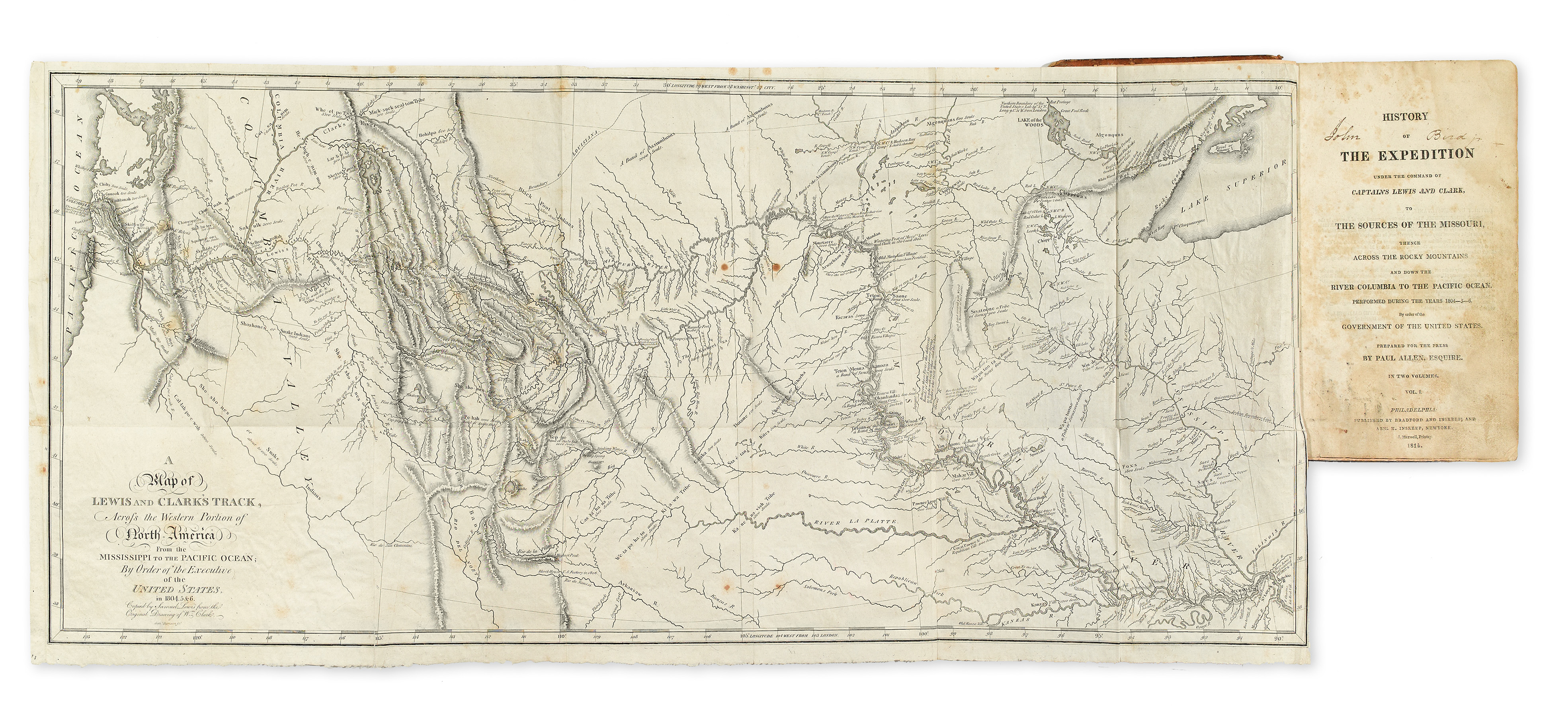 Maps Atlases Natural History  Color Plate Books - Map of the united states before lewis and clark
