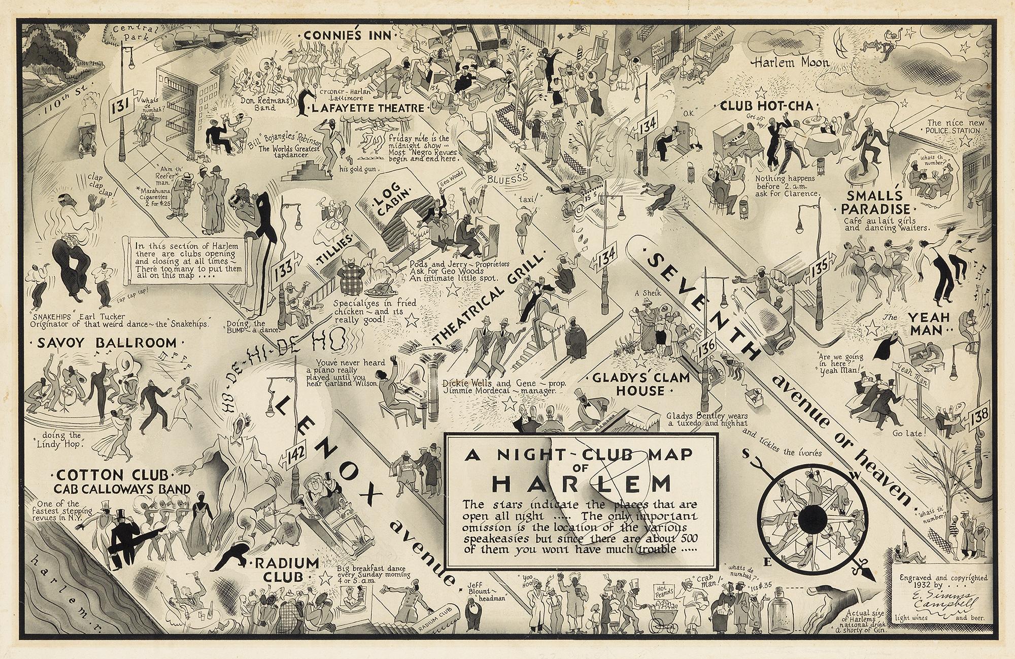 Night Club Map of Harlem