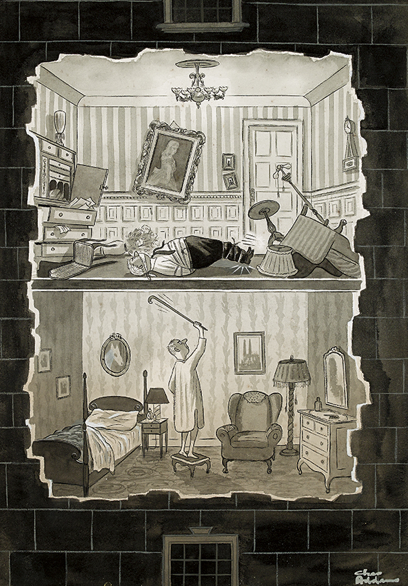 Charles Addams, Noisy Neighbor