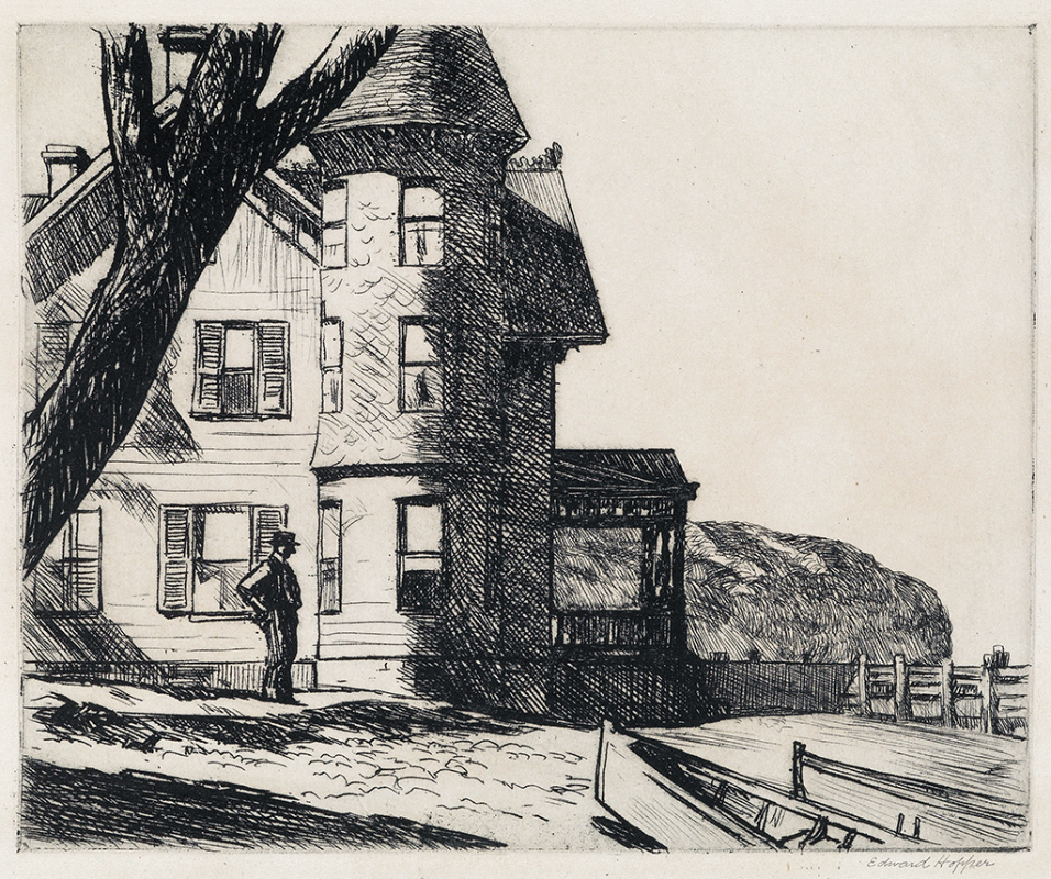Lot 145 edward hopper house by a river etching 1919 estimate 100000 to 150000