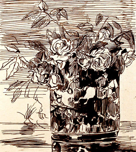 Chinese Vase with Roses