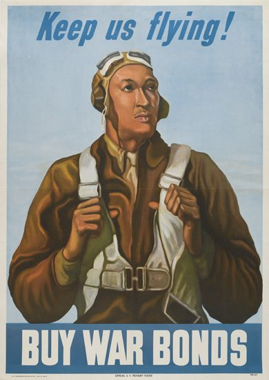 Keep Us Flying Tuskegee Airmen Color Poster 1943