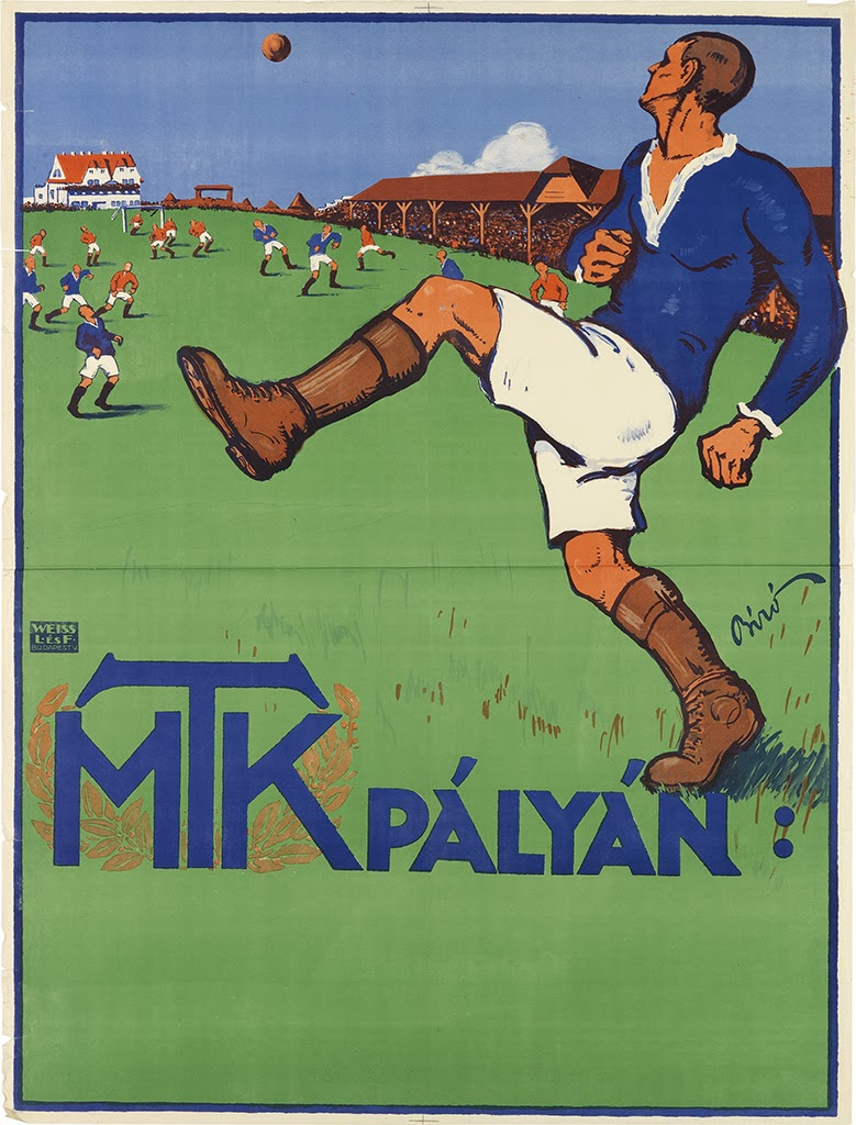 Lot 240 Is A Richly Colored Poster For Budapest Soccer Club MTK