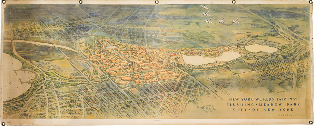 The New York World's Fair in Posters - Swann Galleries News  World S Fair Map on