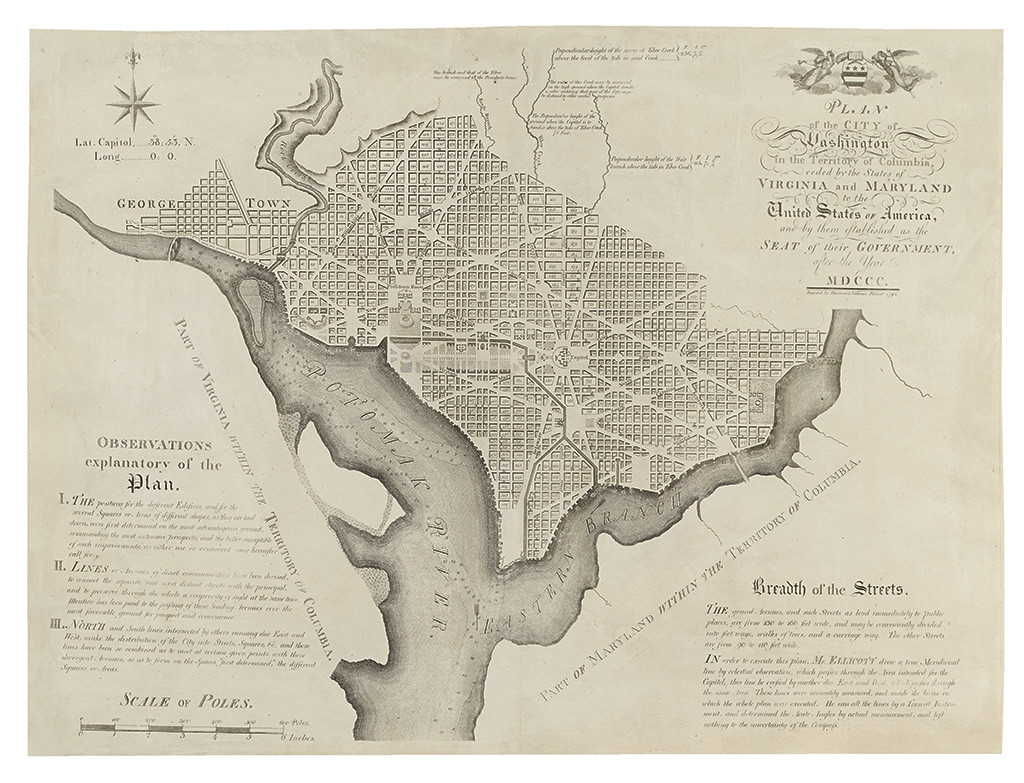 The Foundation Of A Capital Early Maps Of Washington DC Swann - Washington dc map of america