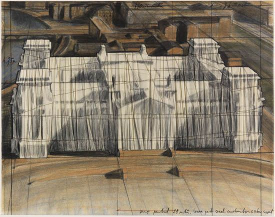 Christo, Wrapped Reichstag (Project for Berlin) Diptych