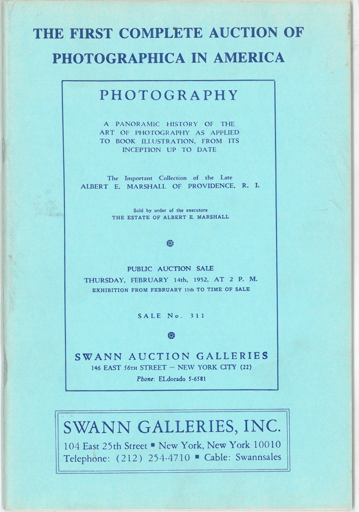 The First Complete Auction of Photographica in America