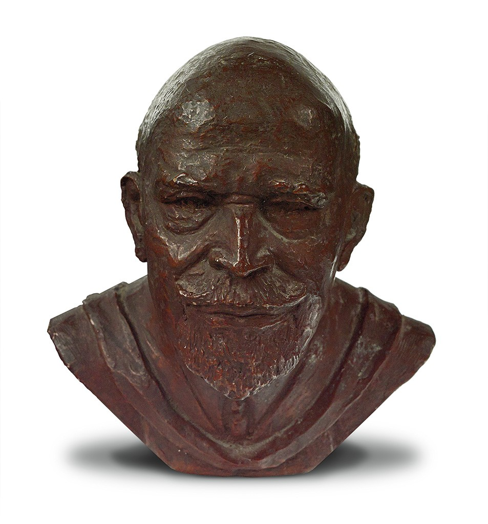 Inge Hardison, W.E.B. DuBois, anodized plaster bust with bronze finish, circa early 1960s.