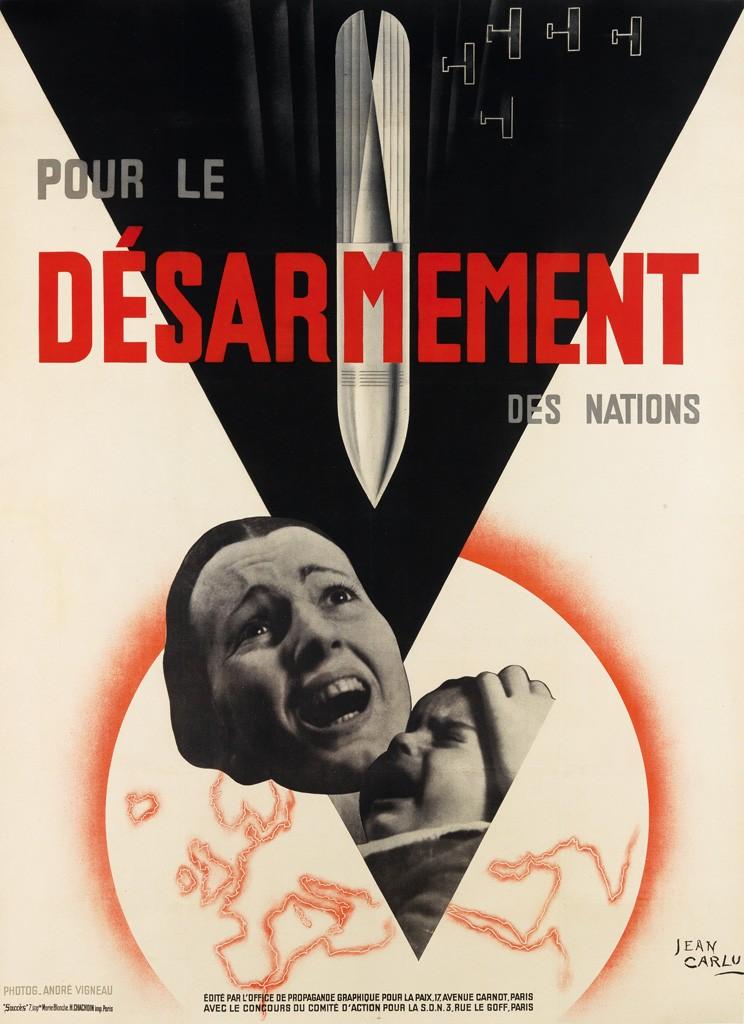 Jean Carlu, Pour Le Désarmement Des Nations, 1932.