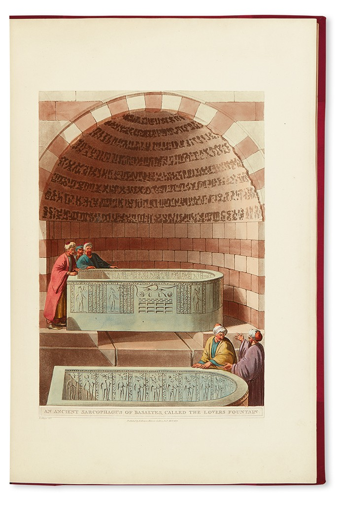 Luigi Mayer, Views in Egypt, with 48 color aquatint plates, London, 1801.