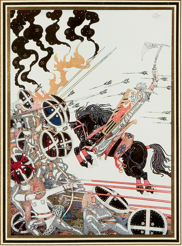 Asbjørnsen and Moe, East of the Sun and West of the Moon. Old Tales from the North, with 25 tipped in color plates by Kay Nielsen, first English trade edition, London, 1914.