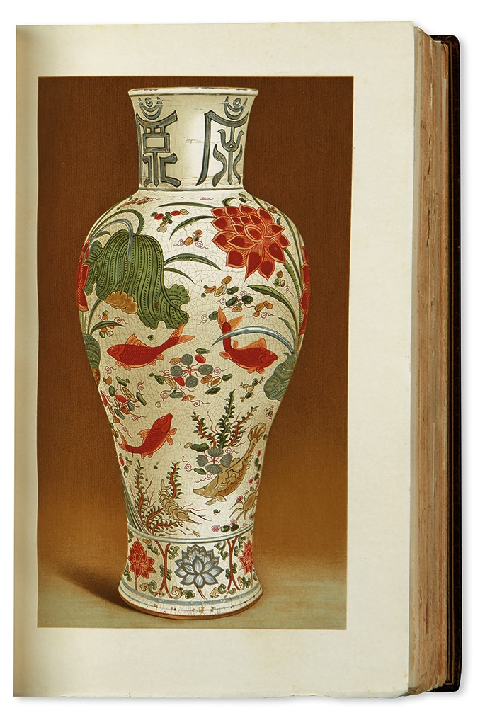 John Pierpont Morgan, Catalogue of the Morgan Collection of Chinese Porcelains, first edition, two volumes, 158 chromeolithographed plates, New York, 1904-11.