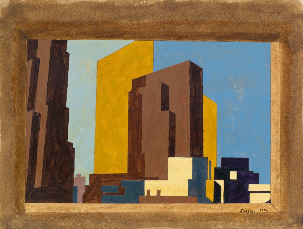 Charles Sheeler, New York #3 – Study, gouache, 1950.