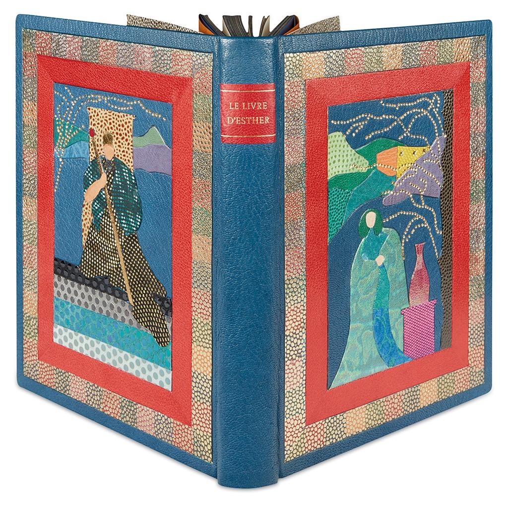 Arthur Szyk, Le Livre d'Esther, limited edition, with 19 color plates, custom bound by Kerstin Tini Miura, Paris 1925