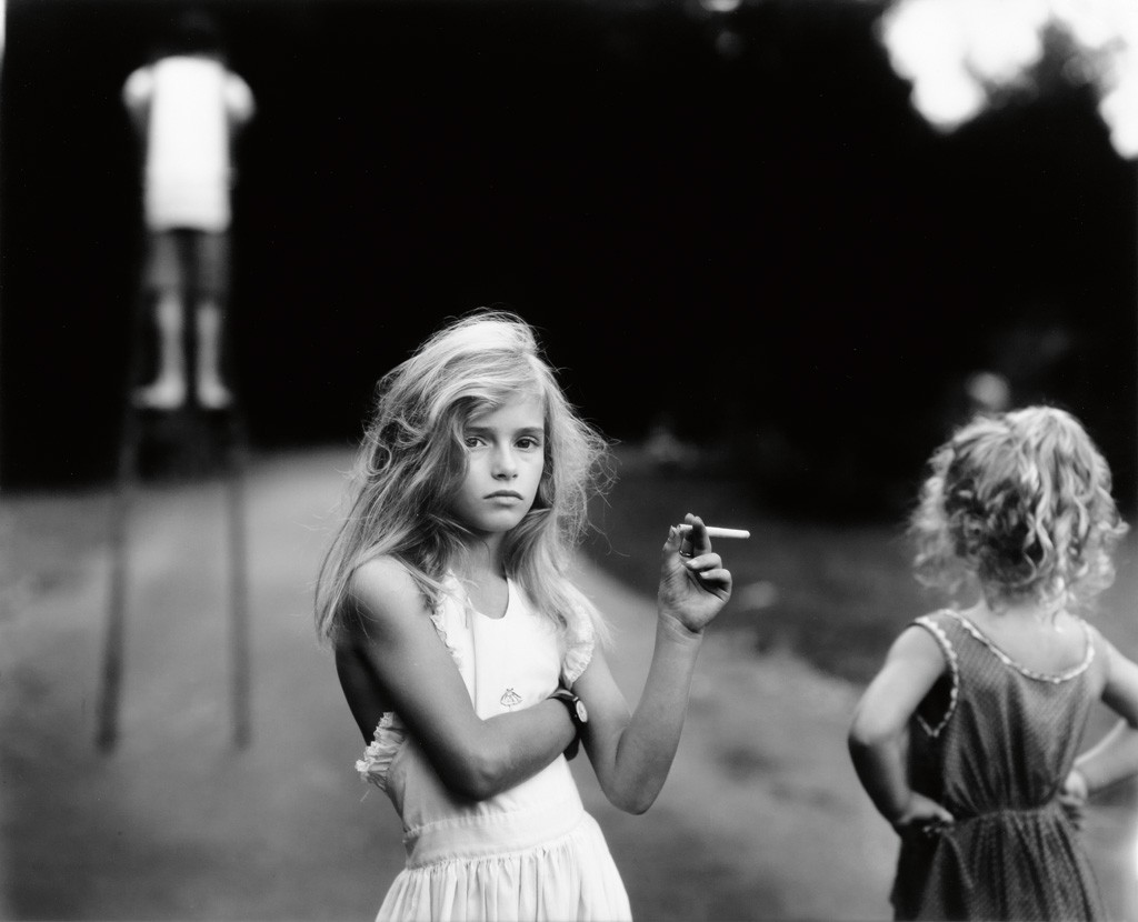 Sally Mann, Candy Cigarette, silver print, 1989. Sold October 15, 2015 for $215,000.