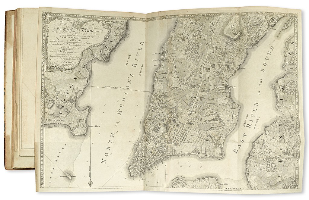 William Faden, The North American Atlas, 42 engraved maps on 48 sheets, 1777. Sold December 8, 2015 for $341,000.