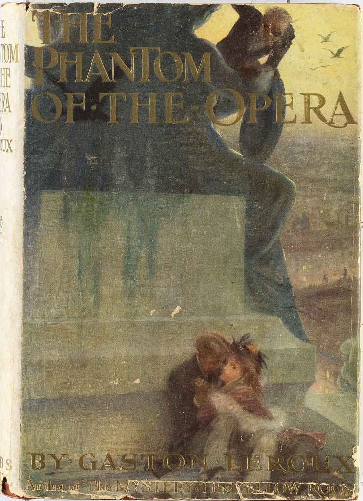 Gaston Leroux, The Phantom of the Opera, first American edition, first printing, in first issue variant dust jacket, New York, 1911. Sold November 10, 2016 for $35,000.