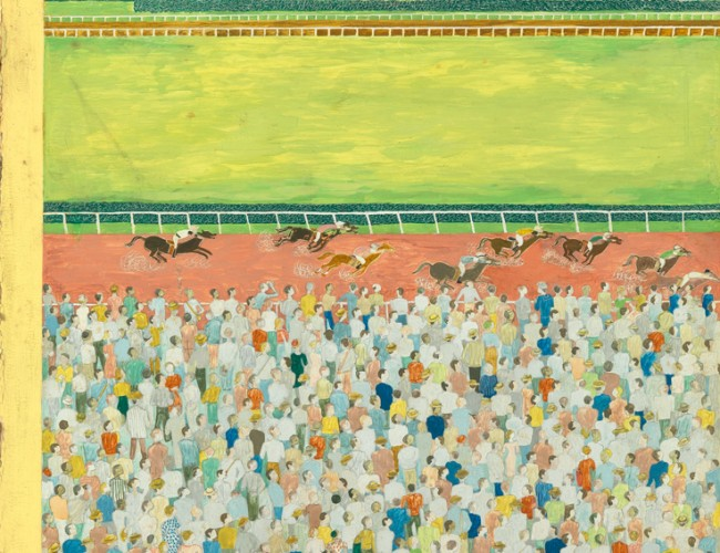 Lot 284: Ilonka Karasz, Ready to Run, tempera, published June 9, 1956. Estimate $6,000 to $9,000.
