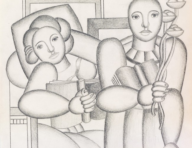 Lot 465: Fernand Léger, La Lecture, pencil, 1924. Price realized: $125,000.