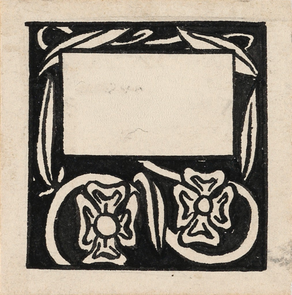 Lot 7: Aubrey Beardsley, Two Dog Roses, group of two, pen and ink, 1893-94. Estimate $1,200 to $1,800.