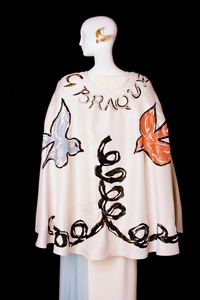 Yves Saint Laurent, Evening Ensemble in Tribute to Georges Braque, 1988. Denver Art Museum. Photo Alexandre Guikinger.