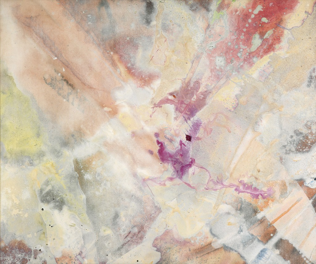 Sam Gilliam, What Did You in London Town?, acrylic on canvas, 1973. Sold October 6, 2016 for $173,000.