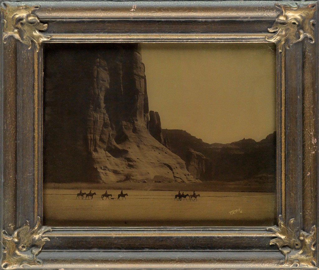 Lot 75: Edward S. Curtis, Cañon de Chelly, orotone, 1904. Estimate $6,000 to $9,000.