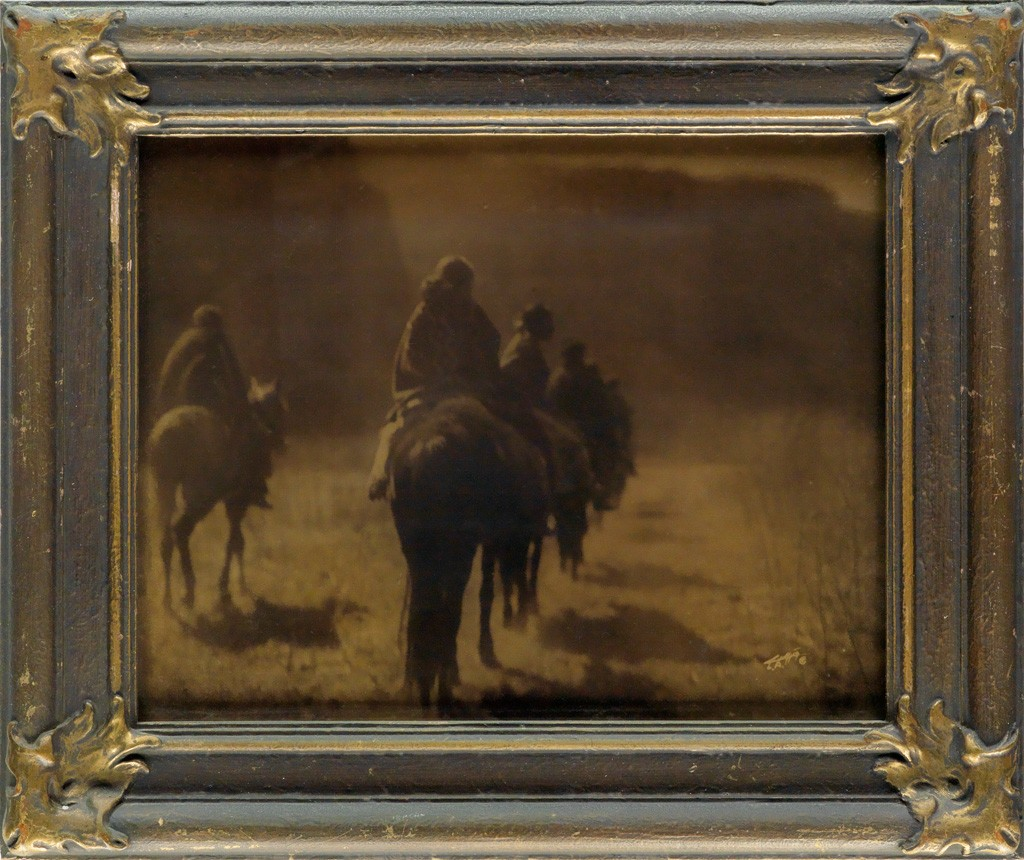Lot 76: Edward S. Curtis, The Vanishing Race, orotone, 1904. Estimate $3,000 to $4,500.
